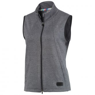 Women's Warm Up Golf Vest - Puma Black/ Quarry Heather