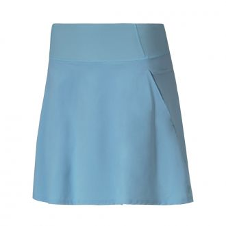 Women's PWRSHAPE Solid Woven Golf Skirt - Milky Blue