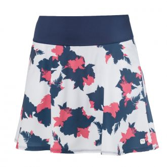 Women's PWRSHAPE Floral Golf Skirt -  Dark Denim