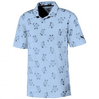 Slow Play Golf Polo - Blue Bell