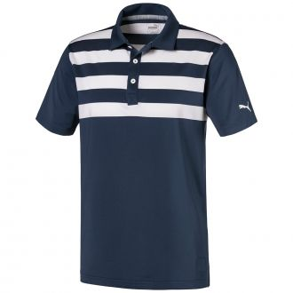 Pars and Stripes Golf Polo - Dark Denim