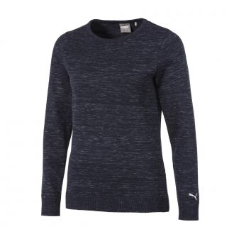 Women's Crewneck Golf Sweater - Peacoat Heather