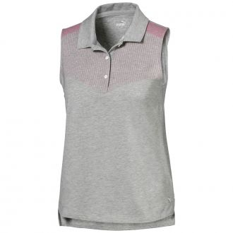 Women's Verticals Sleeveless Golf Polo - Medium Gray Heather