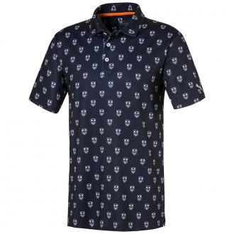X Skull Golf Polo - Peacoat