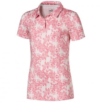 Girls Floral Polo - Rosewater