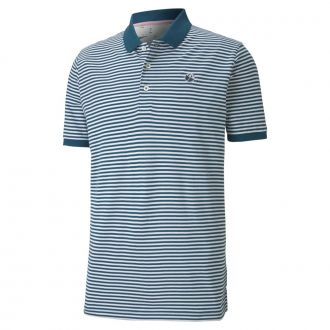 Signature Stripe Golf Polo - Legion Blue
