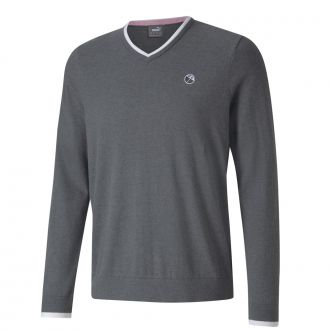 Member's V-Neck Golf Sweater - Iron Gate