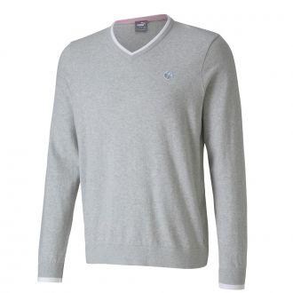 Member's V-Neck Golf Sweater - Light Gray Heather