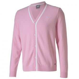 King's Golf Cardigan Sweater - Pale Pink