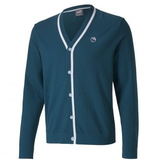 King's Golf Cardigan Sweater - Legion Blue