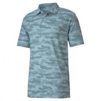 CLOUDSPUN Camo Golf Polo - Milky Blue