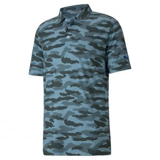 CLOUDSPUN Camo Golf Polo - Digi Blue