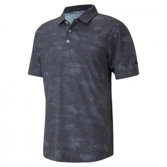 Solarized Camo Golf Polo - Puma Black