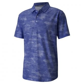 Solarized Camo Golf Polo - Peacoat