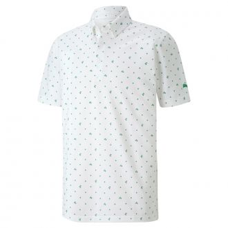 Pique P Golf Polo - Bright White