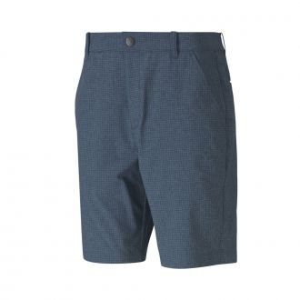 Check Golf Shorts - Digi Blue
