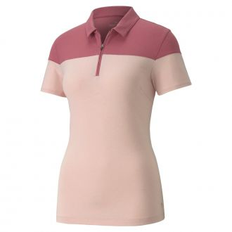 Women's Colorblock Polo - Peachskin