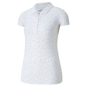 Women's Speckle Golf Polo - Bright White