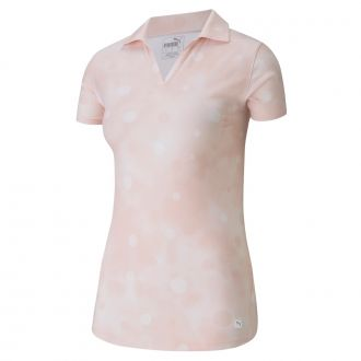 Women's Polka Dye Polo - Peachskin