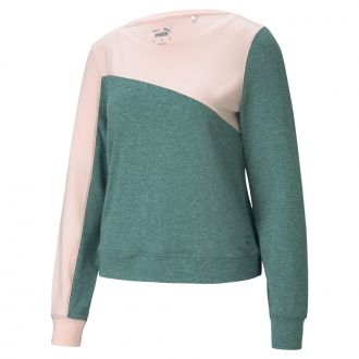 Women's CLOUDSPUN Colorblock Golf Crew - Peachskin