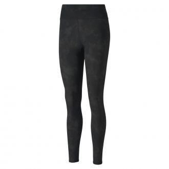 Women's Floral Dye Tights - Puma Black