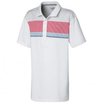 Juniors Road Map Golf Polo - Barbados Cherry