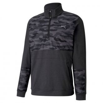 CLOUDSPUN Camo Golf 1/4 Zip - Puma Black