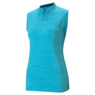 Women's CLOUDSPUN Sleeveless Polka Golf Polo
