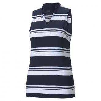 Women's CLOUDSPUN Valley Stripe Sleeveless Golf Polo