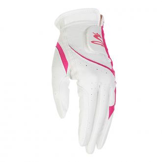 Women's Micro Grip Golf Glove - White / Pink