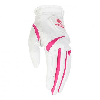 Women's PUR Tech Golf Glove - White / Pink
