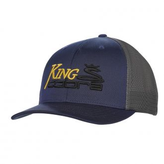 KING COBRA Trucker Snapback Cap - Dark Denim