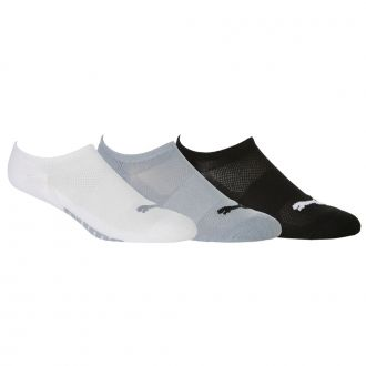 Women's Pounce No Show Golf Socks - Bright White / Quiet Shade / Puma Black