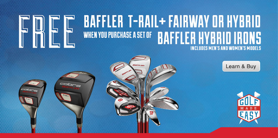 Traditional Baffler technologies are applied to irons in an unprecedented easy-to-hit set. One of man's greatest achievements.