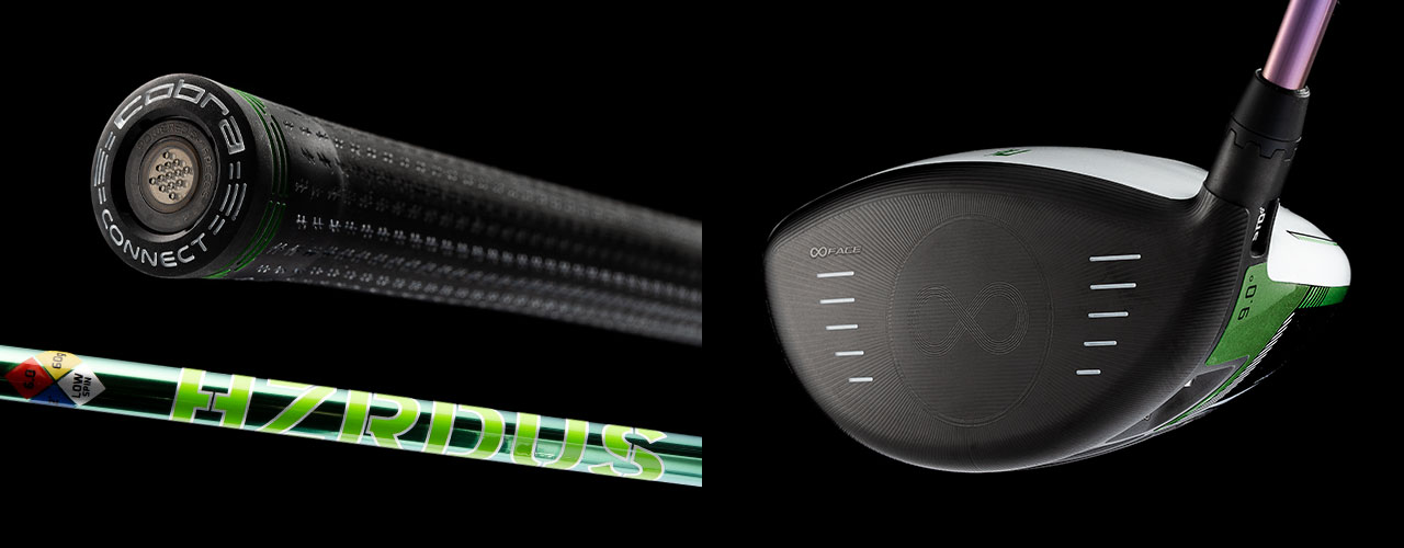 Grip, Shaft, and Face View