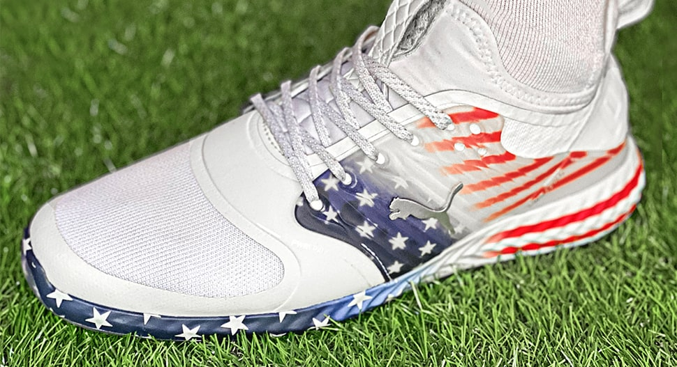 CAGED Stars And Stripes Golf Shoes Profile